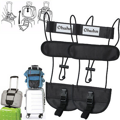 2pcs Bag Strap Luggage Suitcase Adjustable Belt Carry On Bungee Easy For Travel