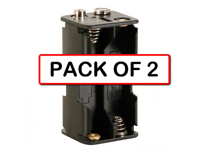 (2-PACK) VELLEMAN BH343B BATTERY HOLDER FOR 4 x AA-CELL (WITH SNAP TERMINALS)