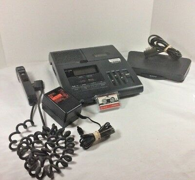 Sony BM-850 Microcassette Transcribing System Transcriber Foot Pedal Microphone