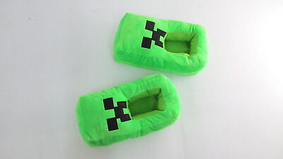 Minecraft Comfortable Plush PERFECT FOR WINTER Slippers Full Cover - Green & Red