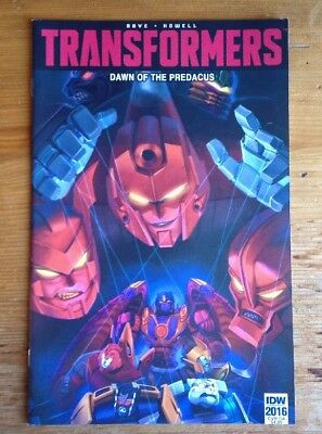 Transformers Botcon Exclusive 2016 Comic Dawn Of The Predacus New