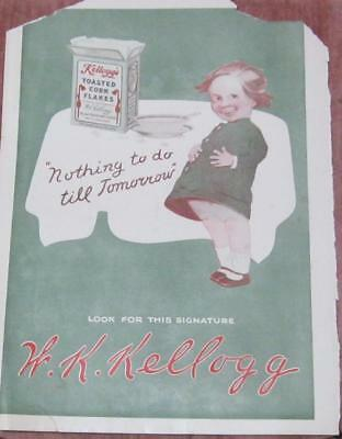 Antique Magazine Print Kellogs Corn Flakes - 13 x 10 1/4in - 1912