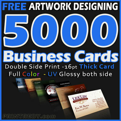 1000 full color double sided custom business cards free design 5000 full color double sided custom business cards real printing free shipping reheart Images