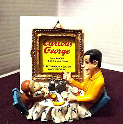 Curious George Mini Frame1997 Curious George & the Man In The Yellow Hat NEW