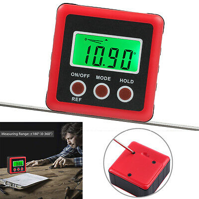0-360° Digital LCD Protractor Inclinometer Angle Magnetic Gauge Box Finder Level