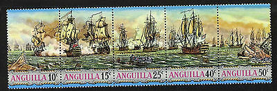 Anguilla 131a MNH West Indies Sea Battles, Warships