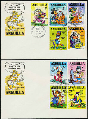 Anguilla 434-43 on FDC - Disney, Easter, Minnie Mouse, Donald Duck