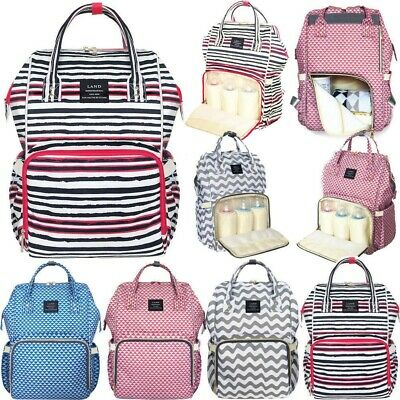 LAND Upgraded Fashion Mummy Backpack Baby Diaper Bag Newborn Nappy Shoulder