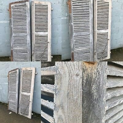 200cm Tall, Pair Of French Shutter Doors, Antique, Vintage, Country X2