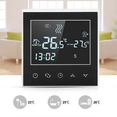 Digitale Wifi Programmabile Touch Screen Cronotermostato Termostato Nero Mi
