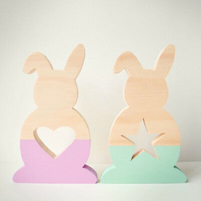 Wood Rabbit Hollow Star Heart Home Decoration Tabletop Indoor Ornament Alluring