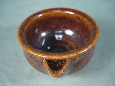 Glazed glaze with small piece of small bowl old antique item useful EMS F/S*