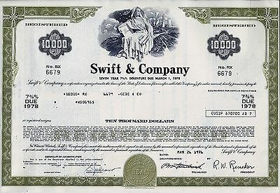 Swift & Company, 1976,  7  3/8% Seven Year Debenture due 1978, (10.000 $)