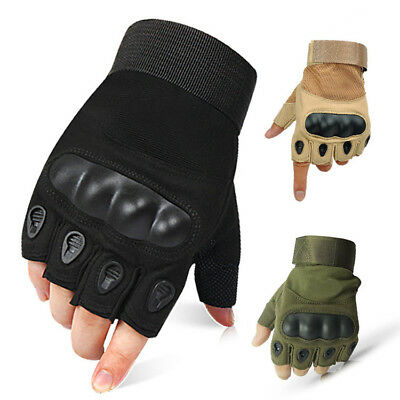 Tactical Half Finger Gloves Men's Sports Camping Hiking Climbing Training Boxing