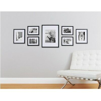 PICTURE FRAME COLLAGE Set Wall Gallery Kit 7 Opening White Matte ...