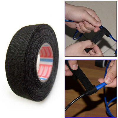 19mm x 25m Tape PET FLEECE CABLE ROLL ADHESIVE CLOTH FABRIC WIRING HARNESS