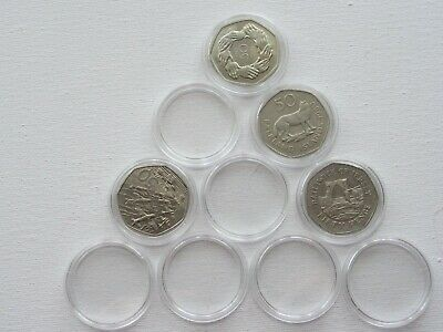 Plastic Round Coin Capsules size 31mm ,Large 50 p,TT, Viking ,Christms