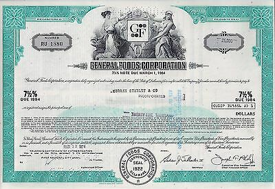 General Foods Corporation 1974,  7 1/2% Note due 1984 (25.000 $) Morgan Stanley