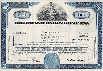 The Grand Union Company, Delaware, 1971  (100 Shares)