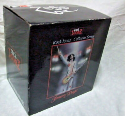 LED ZEPPELIN Figure 2007 KnuckleBonz Jimmy Page Rock Iconz Statue (Repaired)