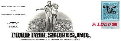 Food Fair Stores Inc., Pennsylvania, 1972 (1.000 Shares)