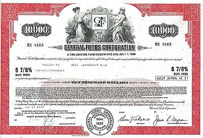 General Foods Corporation 1977, 8 7/8% Debenture due 1990 (10.000 $)
