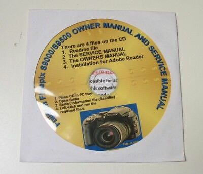 FUJIFILM FINEPIX S9000/S9500 Owner Manual & Service Manual Cd