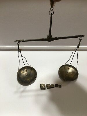 18th Century Cased Portable Scale & Weights