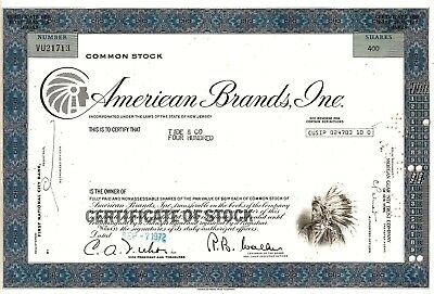 American Brands Inc. 1972 (400 Shares) - Indianer Vignette
