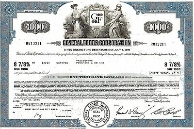 General Foods Corporation 1974, 8 7/8% Debenture due 1990 (1.000 $)