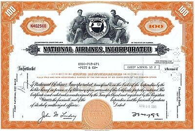 National Airlines, Incorporated, Florida, 1971 (100 Shares)