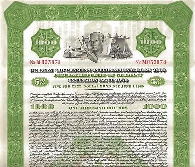 5% German Government Intern. Loan 1930 - Extension Iss. 1953, due 1980 (1.000 $)