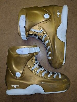 USD Dominic Sagona gold shell inline skates rare aggressive roller blades