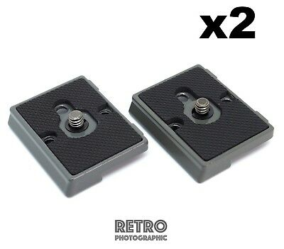 """2 x Quick Release Tripod Plate For Manfrotto RC2/Q2 200PL-14 Bogen 3157N 1/4"""""""