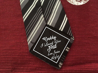 Daddy I loved you first iron on Wedding Tie Patch