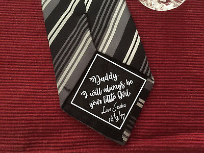 Daddy's Little Girl Father of the Bride iron on Wedding Tie Patch