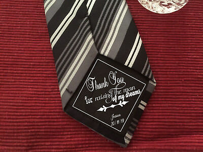 Father of the Groom man of my dreams iron on Wedding Tie Patch