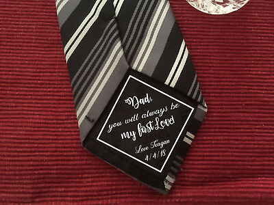 Father of the Bride, Always be my First Love iron on Wedding Tie Patch