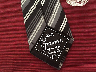 Groomsman iron on Wedding Tie Patch