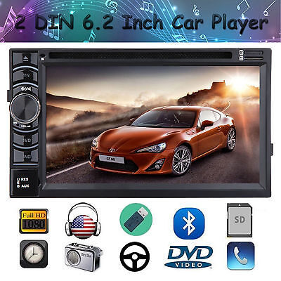 "6.2"" Touch Double DIN Car Stereo Radio Bluetooth FM/USB/SD CD DVD For Volkswagen"