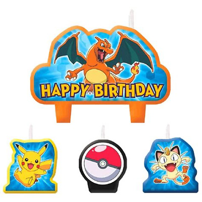 Pokemon Birthday Candle Set - Pikachu and Friends
