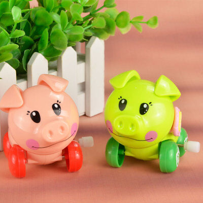 Pop cute Wind Up Children pig Toy Clockwork Spring Pigs animals Style For Kids-M