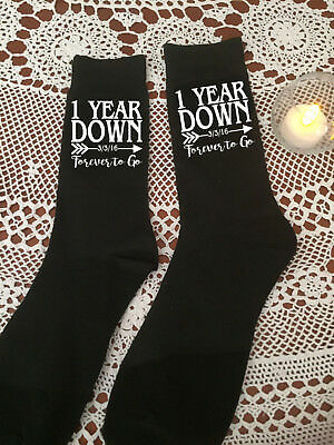 Anniversary Socks to celebrate your 1st, 2nd, 5th or 10th Wedding Anniversary