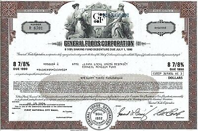General Foods Corporation, 1976, 8 7/8% Debenture due 1990 (83.000 $)
