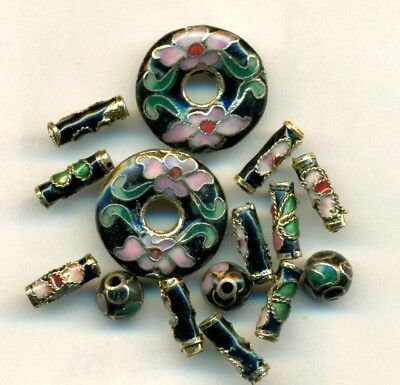 Lot of 16 Cloisonne Beads