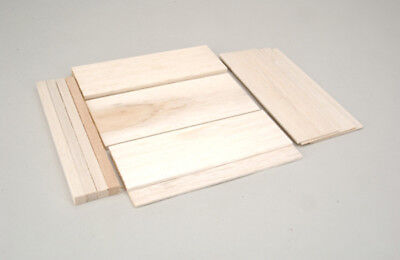 Balsa Wood Bundle Pack Mixed Sheets Various Thickness Plane Model Build Projects