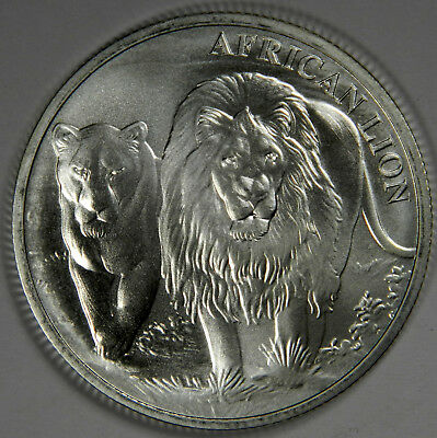 2016 CONGO AFRICA LION ~ 5000 FRANCS 1 oz .999 FINE SILVER ~ PRICED RIGHT!
