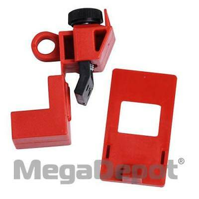 Brady 65396, 120/277V Red Polypropylene Clamp-On Breaker Lockout