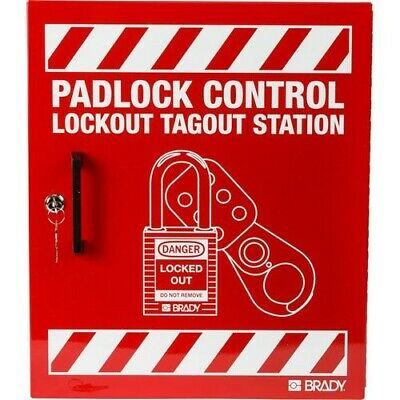 "Brady LR018E, 45648 15.5"" x 18"" Large Steel Padlock Control Center"