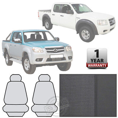 Ford Ranger/mazda Bt-50 Dual Cab 2006-2011 Grey Front Bucket Seat Covers Custom